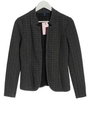 Tom Tailor Blazer in maglia grigio chiaro-nero stampa integrale stile casual