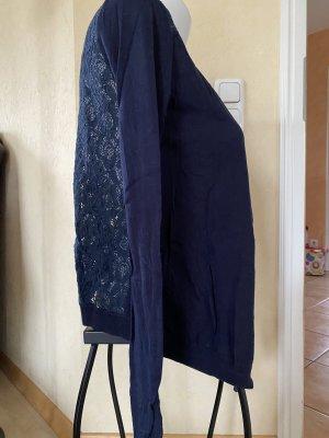 Tom Tailor Strickjacke Gr S Blau mit Spitze
