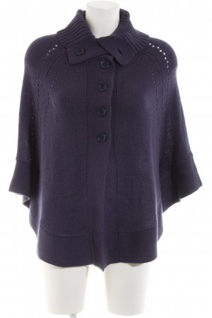 Tom Tailor Strickponcho lila Casual-Look