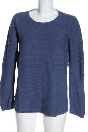 Tom Tailor Strickpullover blau Casual-Look