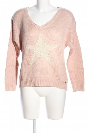 Tom Tailor Strickpullover pink-creme Casual-Look