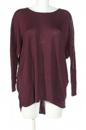 Tom Tailor Strickpullover rot meliert Casual-Look