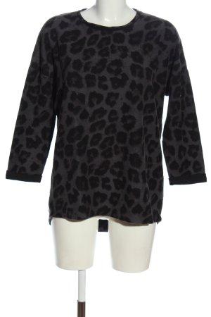 Tom Tailor Maglione lavorato a maglia grigio chiaro-nero Stampa leopardata