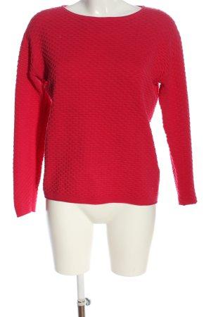 Tom Tailor Pull tricoté rouge style décontracté