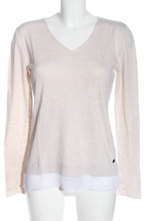 Tom Tailor Strickpullover wollweiß meliert Casual-Look