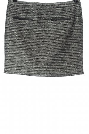 Tom Tailor Jupe tricotée noir-blanc imprimé allover style décontracté