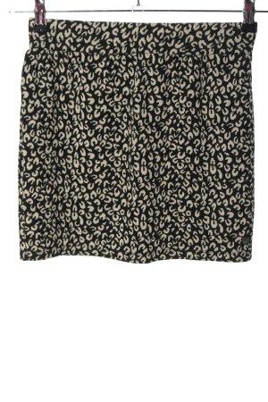 Tom Tailor Falda de punto negro-crema estampado con diseño abstracto