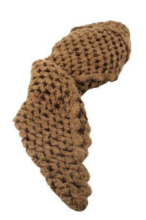 Tom Tailor Écharpe en tricot brun style décontracté