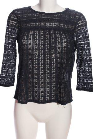 Tom Tailor Strickshirt schwarz Casual-Look