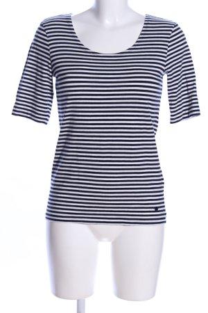 Tom Tailor Strickshirt weiß-schwarz Allover-Druck Casual-Look
