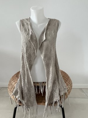Tom Tailor Long Knitted Vest oatmeal