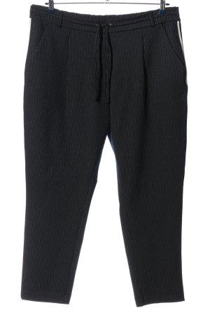 Tom Tailor Pantalon de jogging noir-blanc motif rayé style simple