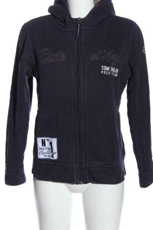 Tom Tailor Sweatjacke schwarz-weiß Casual-Look