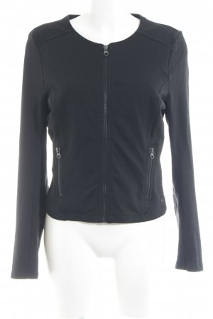 Tom Tailor Sweatjacke schwarz Casual-Look