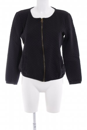Tom Tailor Sweatjacke schwarz Steppmuster Casual-Look