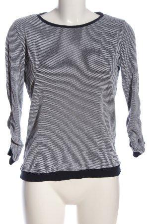 Tom Tailor Sweatshirt weiß-schwarz abstraktes Muster Casual-Look