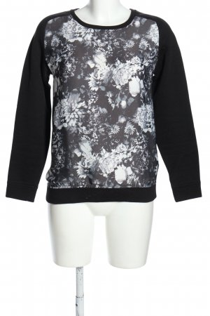 Tom Tailor Sweatshirt schwarz-hellgrau Motivdruck Casual-Look