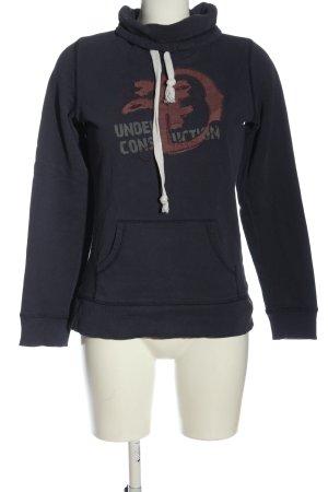 Tom Tailor Sweatshirt hellgrau Motivdruck Casual-Look