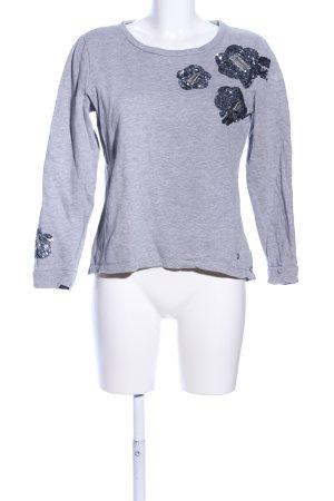 Tom Tailor Sweatshirt hellgrau-blau meliert Casual-Look