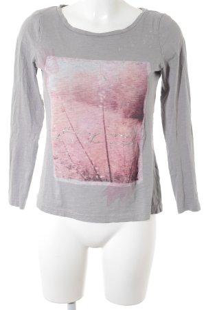 Tom Tailor Sweatshirt hellgrau-rosé Casual-Look