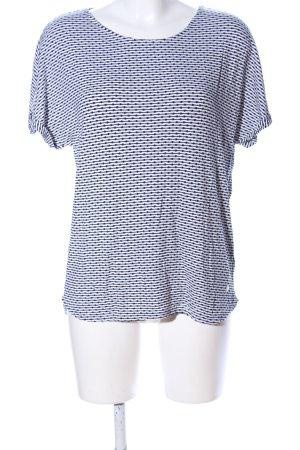 Tom Tailor T-Shirt weiß-schwarz Allover-Druck Casual-Look