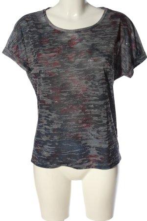 Tom Tailor T-Shirt hellgrau meliert Casual-Look