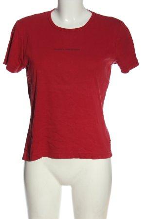 Tom Tailor T-Shirt rot Schriftzug gedruckt Casual-Look