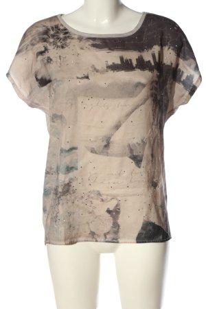 Tom Tailor T-Shirt creme-schwarz abstraktes Muster Elegant