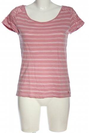 Tom Tailor T-Shirt pink-weiß Streifenmuster Casual-Look