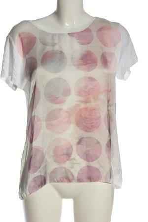 Tom Tailor Camiseta blanco-rosa estampado a lunares look casual