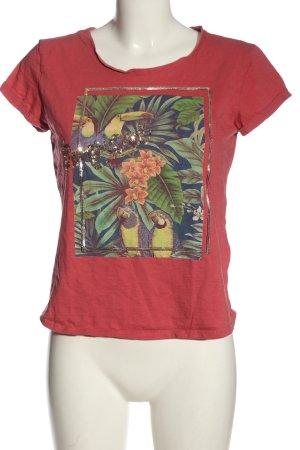 Tom Tailor T-Shirt rot Motivdruck Casual-Look