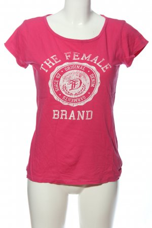 Tom Tailor T-Shirt pink-weiß Motivdruck Casual-Look