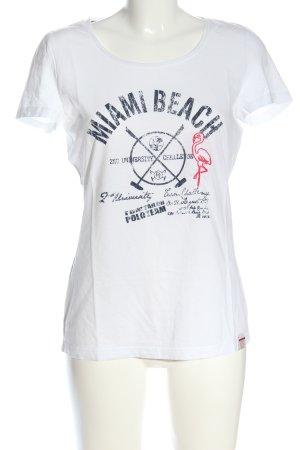 Tom Tailor T-Shirt weiß Motivdruck Casual-Look