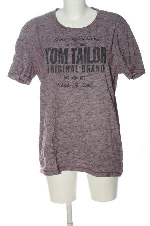 Tom Tailor T-shirt grigio chiaro-nero puntinato stile casual