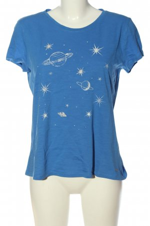 Tom Tailor T-Shirt blau-weiß Motivdruck Casual-Look