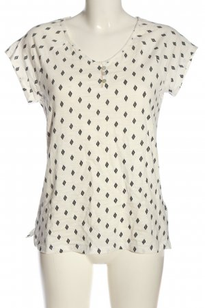 Tom Tailor T-Shirt natural white-black allover print casual look