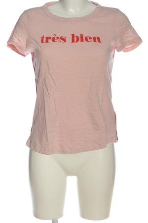 Tom Tailor T-Shirt pink-rot Schriftzug gedruckt Casual-Look
