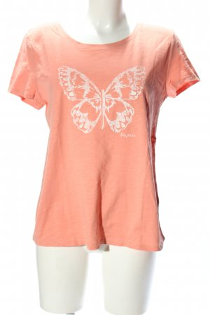 Tom Tailor T-Shirt pink-weiß Motivdruck Casual-Look