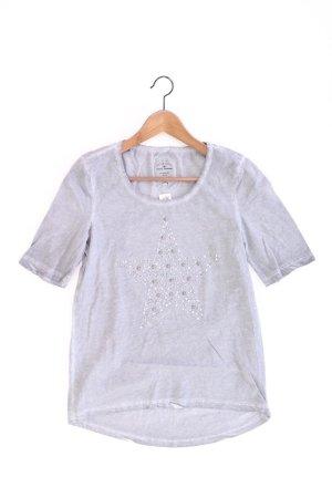 Tom Tailor T-Shirt Größe S Kurzarm mit Nieten grau aus Baumwolle
