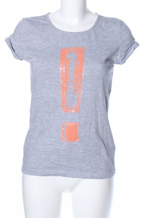Tom Tailor T-Shirt hellgrau-hellorange meliert Casual-Look