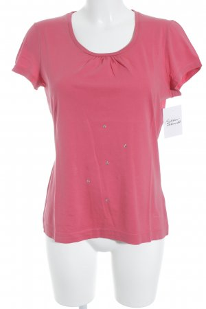 Tom Tailor T-Shirt pink-silberfarben Casual-Look