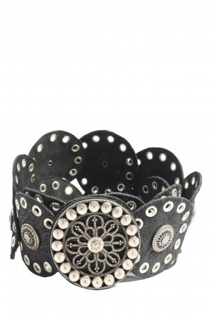 Tom Tailor Waist Belt black-silver-colored elegant