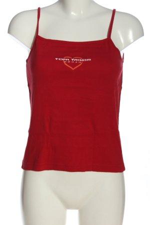 Tom Tailor Trägertop rot Schriftzug gedruckt Casual-Look
