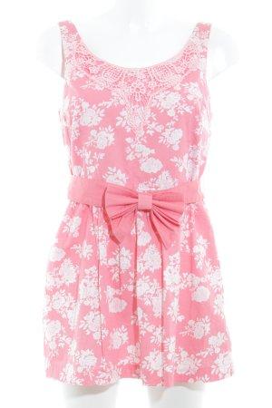 Tom Tailor Trägertop rosa florales Muster Casual-Look