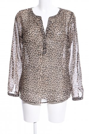 Tom Tailor Transparenz-Bluse Animalmuster Casual-Look