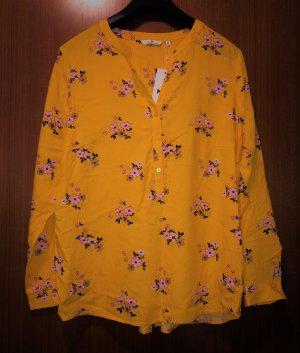 Tom Tailor Tunika Bluse gelb sonnengelb floral 42 Neu