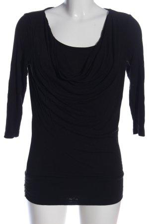 Tom Tailor Koszulka z dekoltem woda czarny W stylu casual