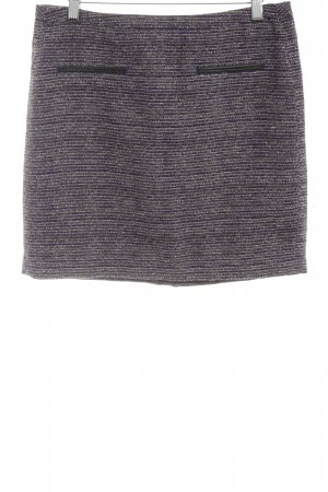 Tom Tailor Jupe en tweed noir-violet moucheté style simple