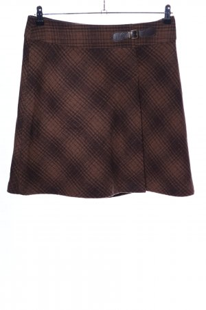 Tom Tailor Tweed Skirt brown check pattern casual look