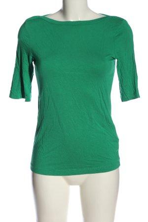 Tom Tailor U-Boot-Shirt grün Casual-Look